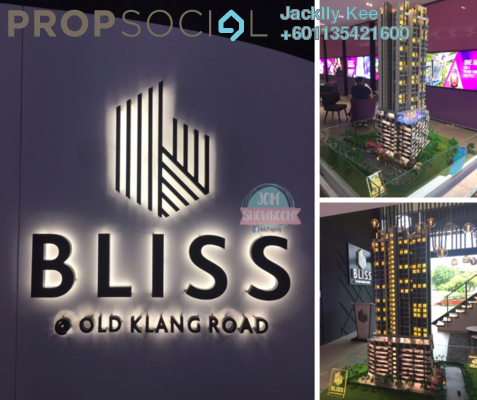 Condominium For Sale in Bliss Bayu Gasing Residency, Old Klang Road Freehold Semi Furnished 2R/2B 400k