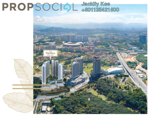 Condominium For Sale in The Tropika, Bukit Jalil Freehold Fully Furnished 3R/2B 650k