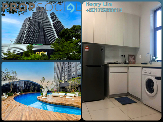 Serviced Residence For Rent in Arte Mont Kiara, Dutamas Freehold Fully Furnished 1R/1B 1.5k