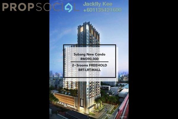 Condominium For Sale in Kenwingston Sky Loft, UEP Subang Jaya Freehold Semi Furnished 3R/2B 550k