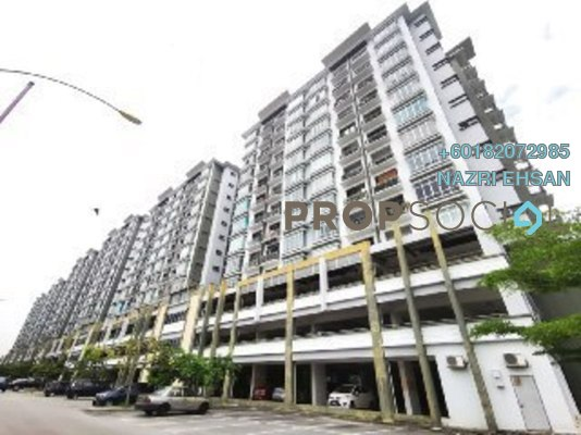 Apartment For Sale in Taman Sri Muda, Shah Alam Freehold Unfurnished 3R/2B 330k