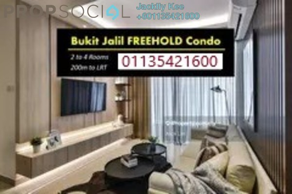 Condominium For Sale in Convena Residence, Bukit Jalil Freehold Semi Furnished 2R/2B 421k