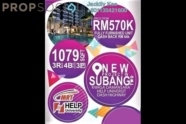 Condominium For Sale in Nadayu 801, Subang Freehold Fully Furnished 4R/4B 670k