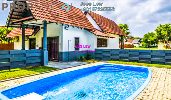 Bungalow For Sale in A'Famosa Resort, Alor Gajah Freehold Semi Furnished 3R/2B 500k