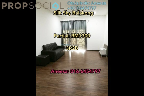 Condominium For Rent in Silk Sky, Balakong Freehold Semi Furnished 3R/2B 1.3k