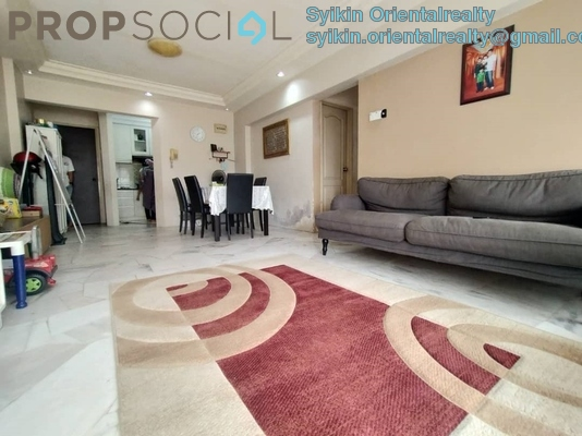 Apartment For Sale in Sentul Utama Condominium, Sentul Freehold Semi Furnished 3R/2B 350k