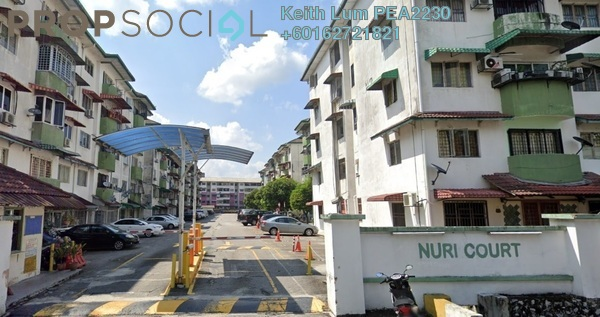 Apartment For Sale in Nuri Court, Pandan Indah Freehold Semi Furnished 3R/2B 300k