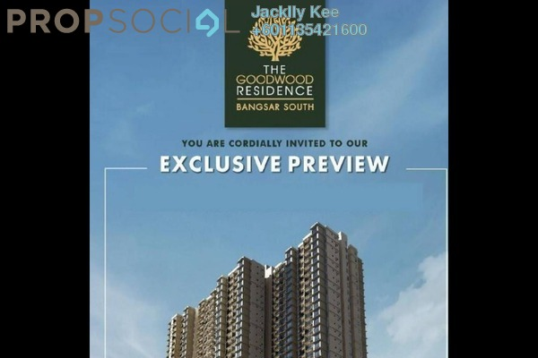 Serviced Residence For Sale in The Goodwood Residence, Bangsar South Freehold Semi Furnished 3R/2B 730k