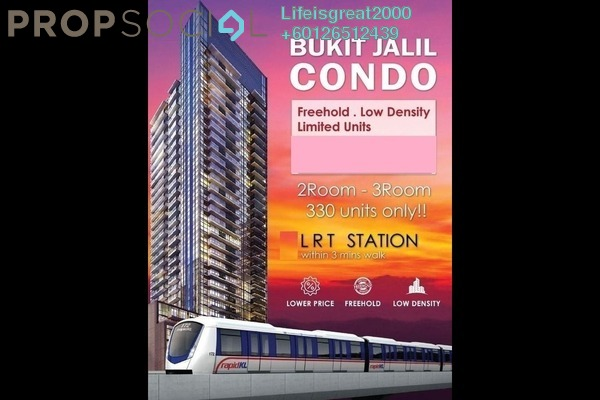 Condominium For Sale in Convena Residence, Bukit Jalil Freehold Unfurnished 3R/2B 420k