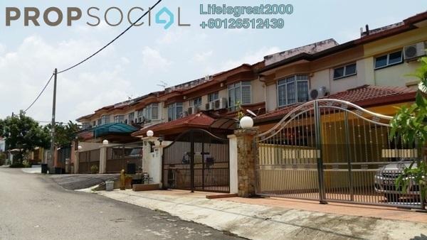Terrace For Sale in Section 7, Bandar Mahkota Cheras Freehold Semi Furnished 4R/3B 598k