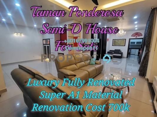 Semi-Detached For Sale in Taman Ponderosa, Johor Bahru Leasehold Semi Furnished 5R/4B 1.3m