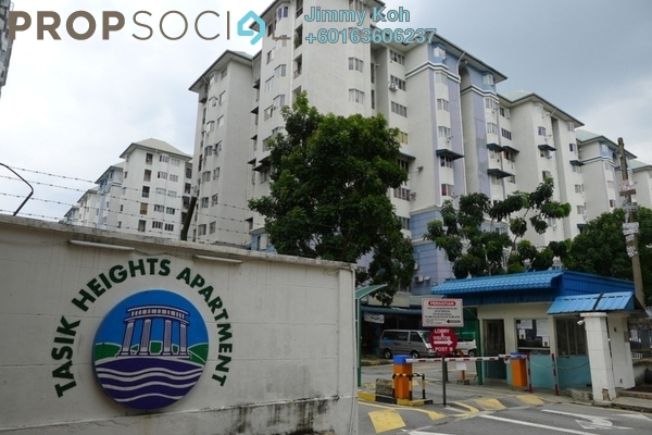 Apartment For Sale in Tasik Heights Apartment, Bandar Tasik Selatan Freehold Fully Furnished 3R/2B 260k