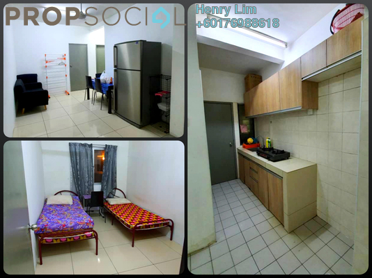Condominium For Rent in Residensi Kerinchi, Bangsar South Freehold Semi Furnished 4R/2B 1.8k