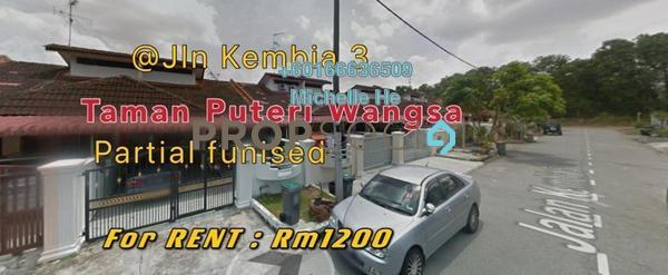 Terrace For Rent in Taman Puteri Wangsa, Ulu Tiram Freehold Semi Furnished 3R/2B 1.2k