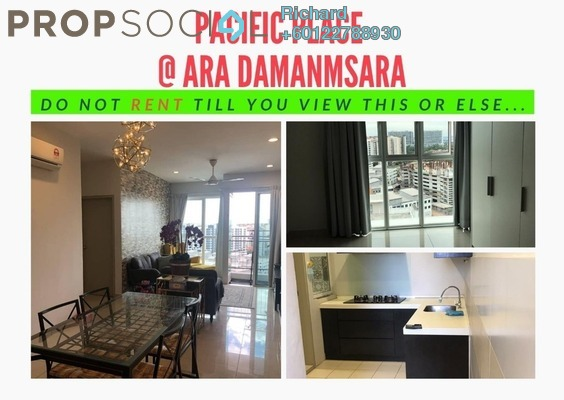 Condominium For Rent in Pacific Place, Ara Damansara Freehold Semi Furnished 3R/2B 2.1k