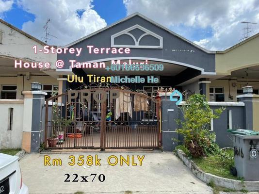 Terrace For Sale in Taman Bukit Tiram, Ulu Tiram Freehold Semi Furnished 3R/2B 358k