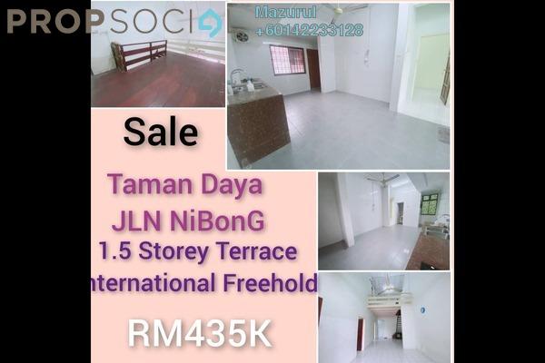 Terrace For Sale in Taman Daya, Tebrau Freehold Semi Furnished 3R/2B 435k