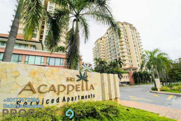 Serviced Residence For Sale in Sri Acappella, Shah Alam Freehold Fully Furnished 4R/4B 1.75m