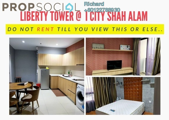 Serviced Residence For Rent in i-City, Shah Alam Freehold Fully Furnished 2R/1B 1.4k