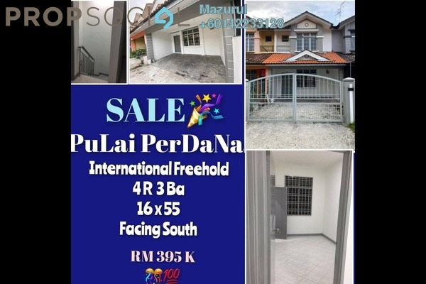 Terrace For Sale in Taman Sri Pulai Perdana 1, Pulai Freehold Unfurnished 4R/3B 390k