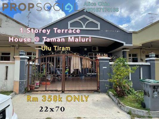 Terrace For Sale in Bandar Tiram, Ulu Tiram Freehold Semi Furnished 3R/2B 358k