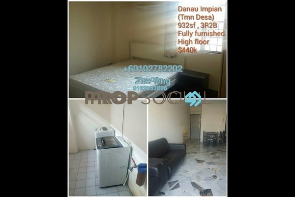 Condominium For Sale in Danau Impian, Taman Desa Freehold Fully Furnished 3R/2B 440k