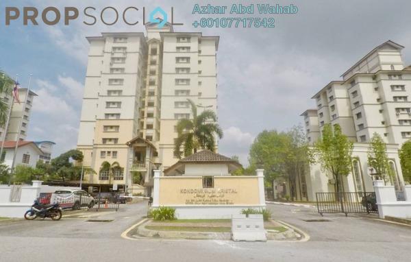 Condominium For Sale in Kristal Condominium, Shah Alam Freehold Semi Furnished 3R/2B 360k