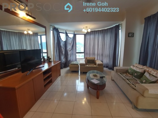 Condominium For Rent in Twin Towers, Tanjung Bungah Freehold Fully Furnished 3R/2B 1.4k