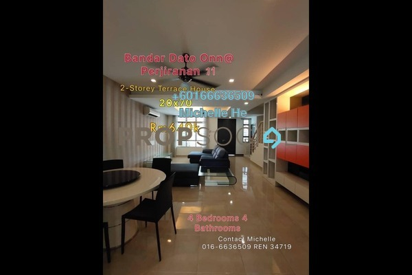 Terrace For Sale in Perjiranan 11, Bandar Dato' Onn Freehold Fully Furnished 4R/4B 640k