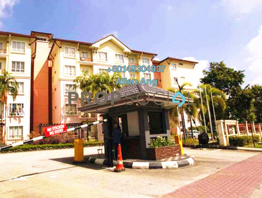 Apartment For Rent in Delima Apartment, Bukit Jelutong Freehold Semi Furnished 3R/2B 1.1k
