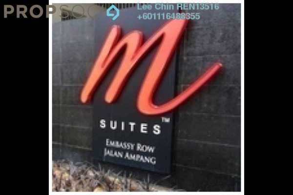Serviced Residence For Sale in M Suites, Ampang Hilir Freehold Semi Furnished 2R/2B 760k