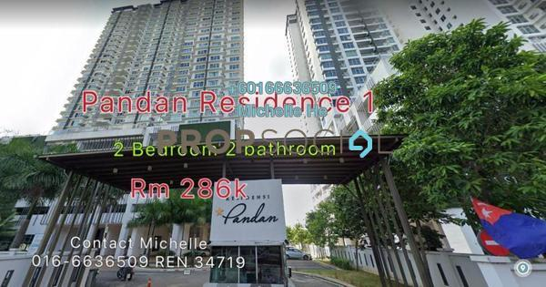 Serviced Residence For Sale in Pandan Residence 1, Johor Bahru Leasehold Semi Furnished 2R/2B 286k
