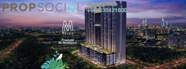 Condominium For Sale in M Arisa, Sentul Freehold Semi Furnished 1R/1B 290k