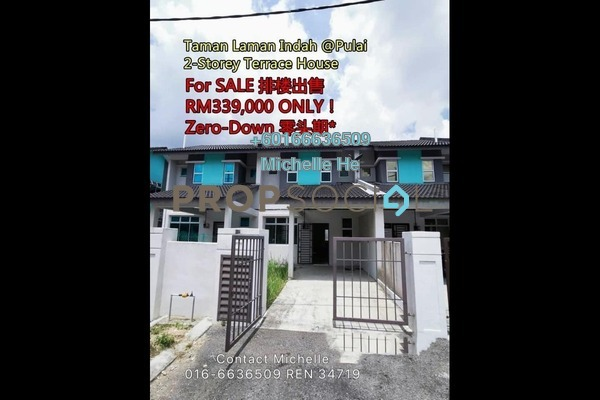 Terrace For Sale in Taman Pulai Indah, Pulai Freehold Unfurnished 3R/3B 339k
