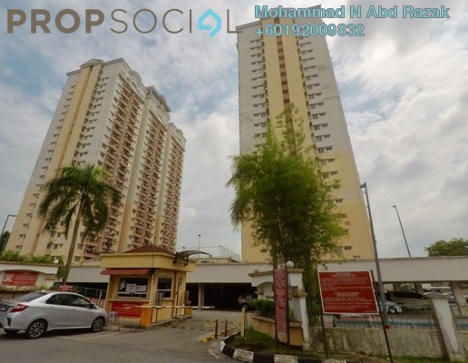 Condominium For Sale in Langat Jaya, Batu 9 Cheras Freehold Semi Furnished 3R/2B 340k