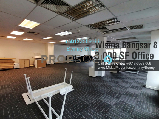Office For Rent in Wisma Bangsar 8, Bangsar Freehold Fully Furnished 0R/0B 15k