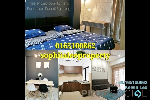 Condominium For Rent in Evergreen Park, Bandar Sungai Long Freehold Fully Furnished 1R/1B 800translationmissing:en.pricing.unit