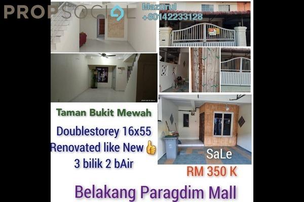 Terrace For Sale in Taman Bukit Mewah, Johor Bahru Freehold Unfurnished 3R/2B 330k