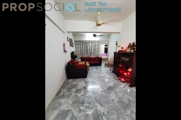 Apartment For Sale in Greenview Apartment, Kepong Freehold Semi Furnished 3R/2B 188k