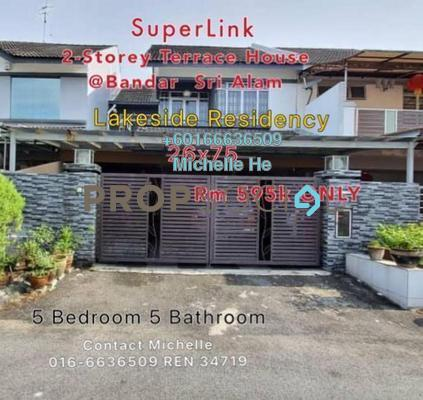 Terrace For Sale in Lakeside Residency, Bandar Seri Alam Freehold Semi Furnished 5R/5B 595k