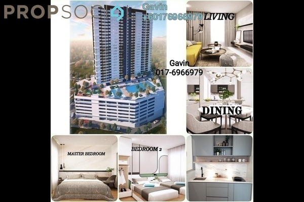 Condominium For Sale in Kompleks Diamond, Bangi Leasehold Semi Furnished 2R/1B 296k