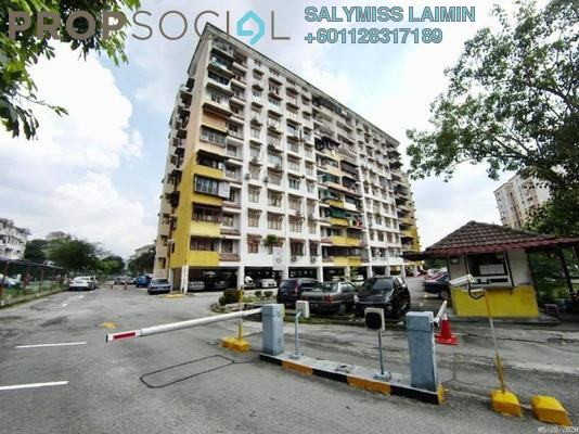 Apartment For Sale in Dahlia Apartment, Pandan Indah Freehold Semi Furnished 3R/2B 305k