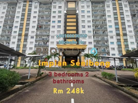 Apartment For Sale in Impian Senibong, Bandar Baru Permas Jaya Freehold Semi Furnished 3R/2B 248k
