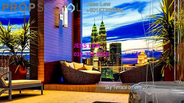 Condominium For Rent in Verticas Residensi, Bukit Ceylon Freehold Semi Furnished 3R/3B 6k