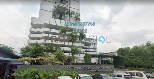 Condominium For Sale in Citywoods, Johor Bahru Freehold Unfurnished 2R/2B 400k