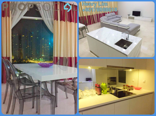 Condominium For Rent in Quadro Residences, KLCC Freehold Fully Furnished 3R/5B 6k