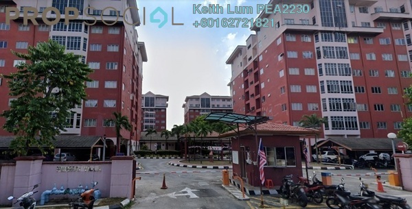Apartment For Sale in Permai Villa, Puchong Freehold Semi Furnished 3R/2B 350k