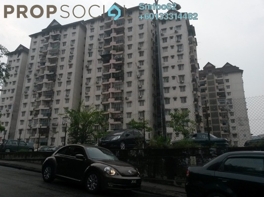 Condominium For Rent in Genting Court, Setapak Freehold Semi Furnished 3R/2B 1k