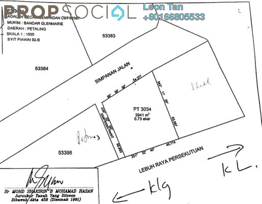 Land For Sale in UOA Business Park, Saujana Freehold Unfurnished 0R/0B 19m