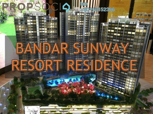 Serviced Residence For Sale in Greenfield Residence, Bandar Sunway Leasehold Semi Furnished 2R/1B 478k